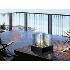 BIOART Dallas - Мини-биокамин из стекла на квадратной подставке