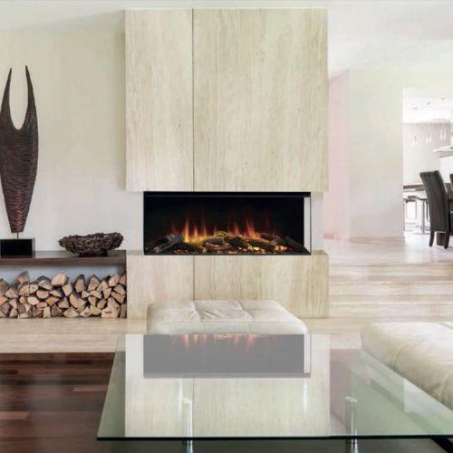 New Forest 850 (Нью Форест) - электрокамин с трехсторонним стеклом