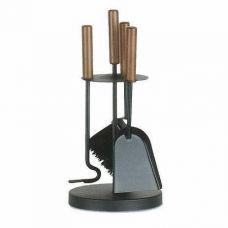 арт. 50.559L (черный+дерево) - набор инструментов с деревянными ручками