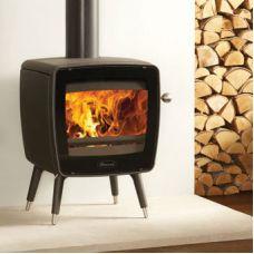 Dovre Vintage35 - Дровяная печка на ножках, большой вид огня