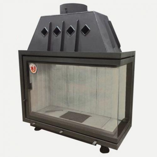 Альфа 1000R - Стальная топка-вставка с угловым стеклом, правосторонняя
