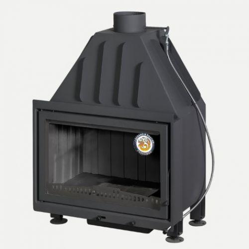 Альфа 700B (150 мм) -  Цельносварная металлическая топка с черным шамотом
