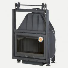 Альфа 700KB - Каминная топка с контргрузом, футеровка - черный шамот