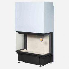 ЭкоКамин Дельта 800 -Топка с механизмом подъема двери, трехсторонний вид огня