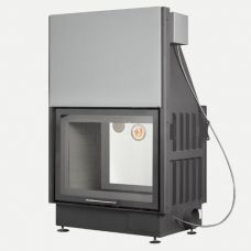 ЭкоКамин Вега 800TB - Туннельная топка с объемной топочной камерой, черный шамот