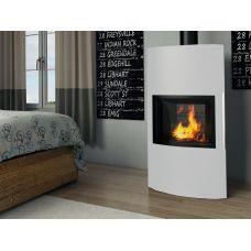 Ember Гордана 480 L white - Камин-печь со стальным корпусом в белом цвете