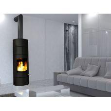 Ember Olja 1G black - Отопительная печь-камин из стали с черным покрытием