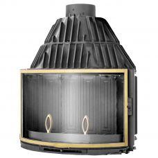 DECO 775 BR - топка-вставка с панорамным стеклом, латунная отделка