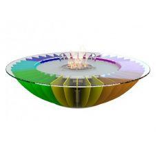 Glamm Fire Cosmo Magic (Космо мультицветный) - Напольный камин из стали со столе..