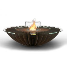 Glamm Fire Cosmo (Космо) - Биокамин круглый из оксидированной кортен-стали