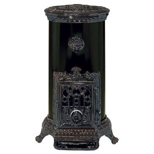 Godin Petit Godin (Петит Годэн) модель 3727 - Чугунная печка с цветной ажурной дверцей