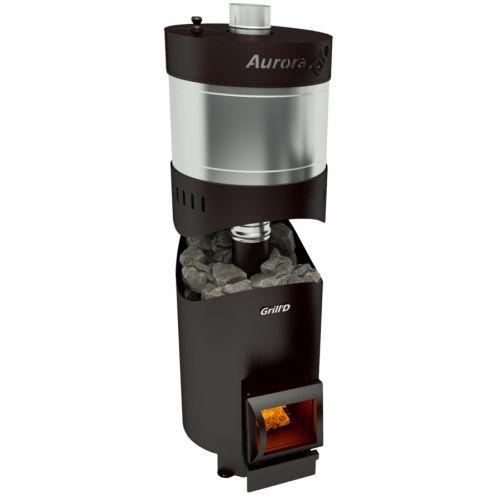 Aurora 160 TRIO Long - стальная печка для бани с баком для воды