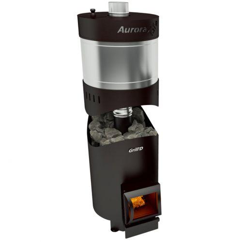Aurora 160 TRIO Short - дровяная печь-каменка из котловой стали