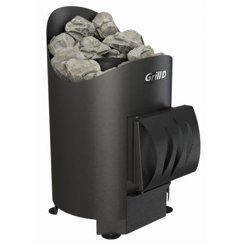 Aurora mini Short - печь-каменка из котловой стали