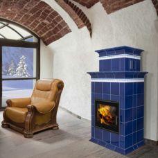 BARACCA 1N керамика - элегантная печь-камин с отделкой изразцами