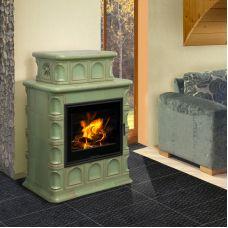 BARACCA 3 керамика - керамическая печка с дровяной мощной топкой
