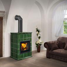 BARACCA 8 керамика - компактная камин-печь с цветной облицовкой