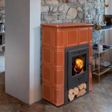 CATANIA 1 - фронтальная керамическая печка с дровницей