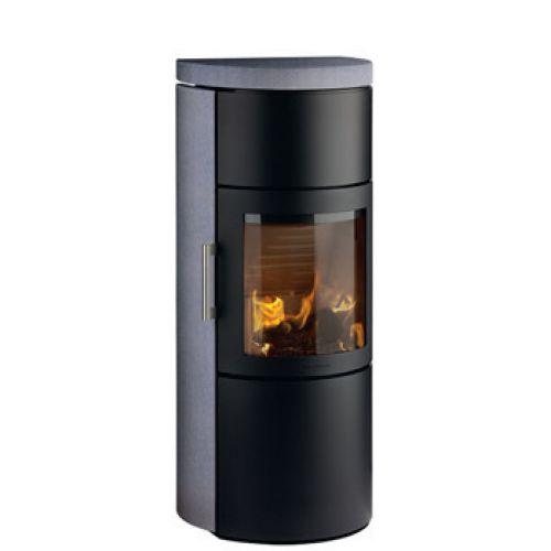 3520C - камин-печь с большой камерой, серый песчаник