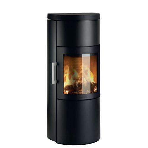 3520C - круглая печь в черном цвете, нержавеющая сталь