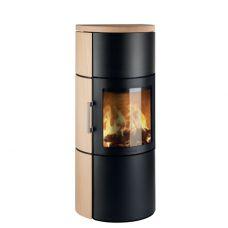 3520C - круглая камин-печь с классической дверцей, песчаник Tabacco