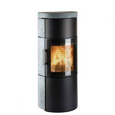 3520M - дровяная печь с современной дверкой, талькохлорит