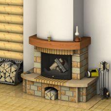 Руна 700 - рустикальный камин для установки к стене