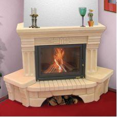 Октава 700 - элегантный камин с нишей для дров