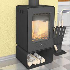 Лава 6 - Миниатюрная печка-буржуйка с подставкой-дровницей