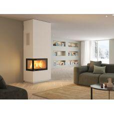 Nordpeis Davos A угловой высокий - левосторонний камин белого цвета
