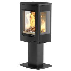 Nordpeis Uno 1 - Элегантная печь из термопрочной стали черного цвета