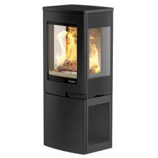 Nordpeis Uno 2 - Современная печка из стали с цокольной дровницей