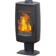 Plamen ARIA - Современная бержуйка с большой стеклянной дверью, черная