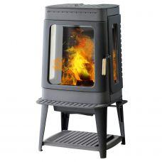 Plamen AUTHENTIC 35 - Компактная печка на оригинальной подставке-дровнице
