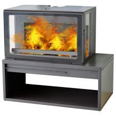 Plamen ECO MINIMAL 50 - Печь-камин с дополнительными боковыми стеклами