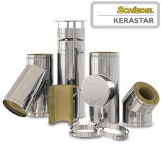 KERASTAR - стальной дымоход с внутренней керамической трубой