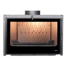 Seguin INSERT VISIO 7 BLACK LINE - Топка-вставка с горизонтальным стеклянным фасадом