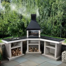 Anora+стол+мойка (L) - угловая трехмодульная печь-барбекю