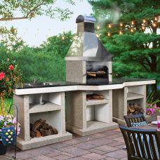 Darina+стол+мойка (L) - практичная конструкция с чугунной жаровней