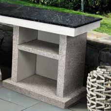 Стол из бетона со столешницей из камня