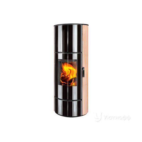 ASKJA H EX песчаник - стильная печь со стеклянным фасадом