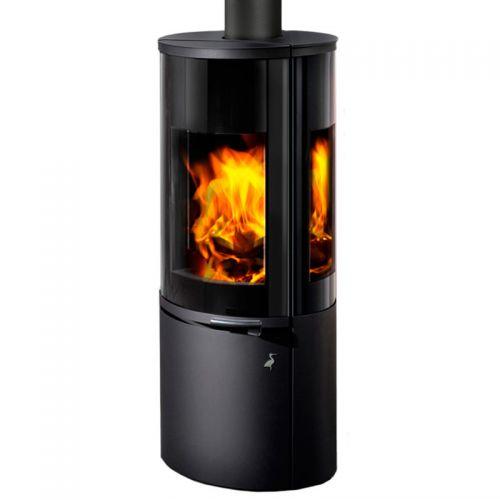 HIERRO 3S - отопительная печь из стали с трехсторонним стеклом