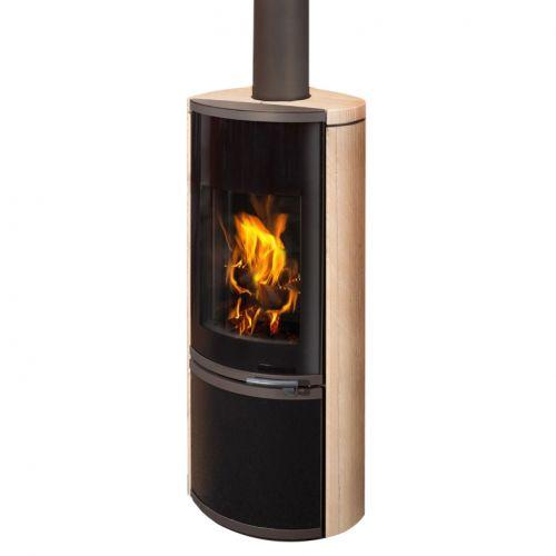 HIERRO керамика - дровяная печка с закрытой дровницей