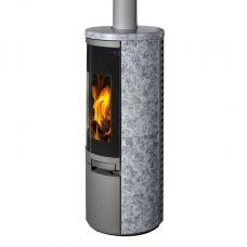 VULSINI керамика - дровяная печь-камин с закругленным стеклом