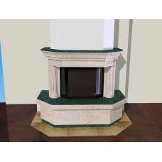 Проект 7 - Двухцветная облицовка с декоративными колоннами