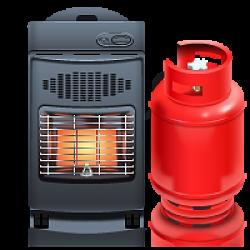 Газовый камин для дома и дачи Мощность 11 кВт