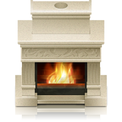 Камины дровяные для дома Материал облицовки Мрамор