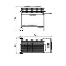 Apollo 100 Многофункциональная уличная печь для приготовления пищи (Барбекю) Sun..