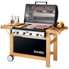 Profy 4 Функциональная печь с тремя поверхностями для жарки (Барбекю) Sunday бар..