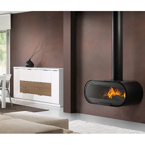 D-8 - дровяной подвесной камин в черном цвете